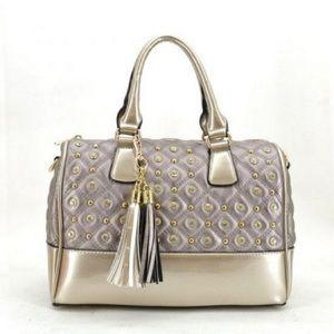 Rhinestone Stud Satchel Handbag